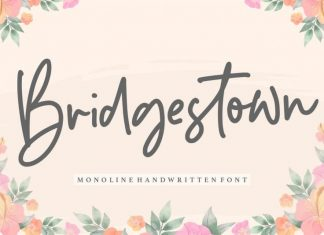 Bridgestown Monoline Handwritten Font