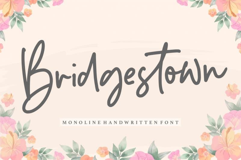 Bridgestown Monoline Handwritten Font