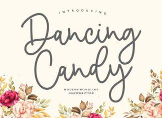 Dancing Candy Modern Monoline Handwritten Font