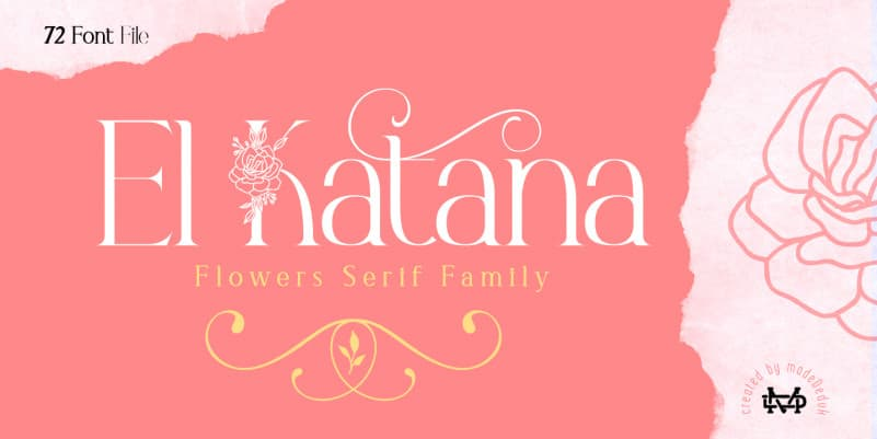 El Katana - Flowers Serif Font