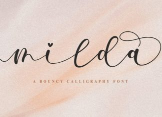 Milda - A Bouncy Calligraphy Font