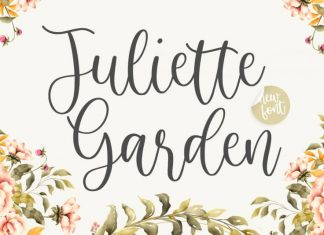 Juliette Garden Modern Calligraphy Font