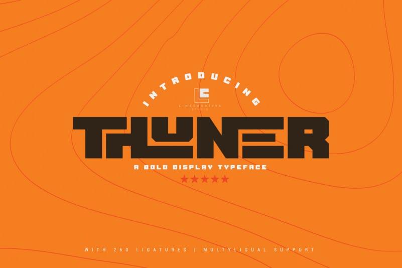 Thuner Display Font