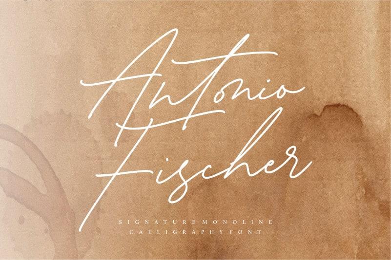 Antonio Fischer Signature Monoline Font