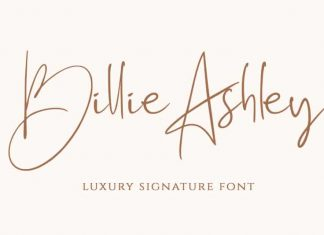 Billie Ashley Handwritten Font