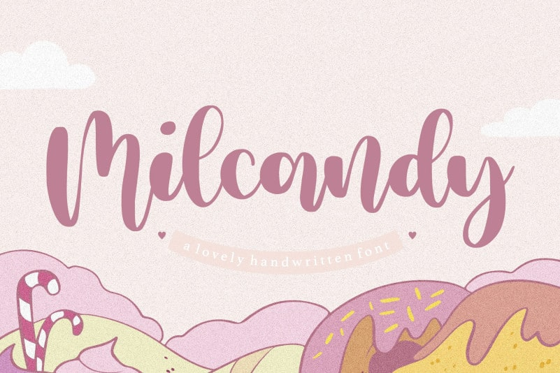 Milcandy Lovely Handwritten Font