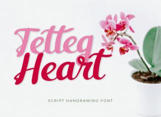 Tetteg Heart Script Font