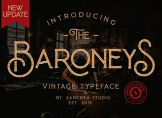 Baroneys - Vintage Typeface
