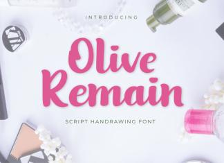 Olive Remain Script Font