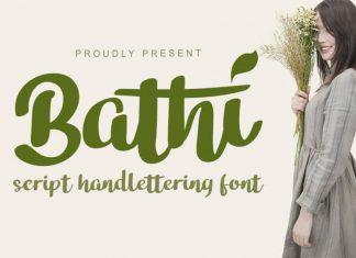 Bathi Script Font