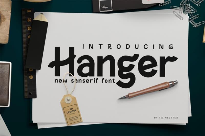 Hanger Sans Font
