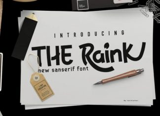 The Raink Display Font