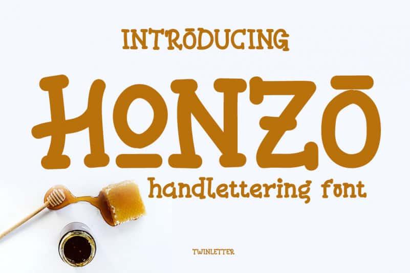 Honzo Display Font