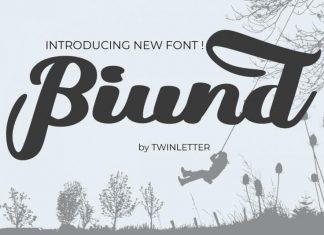 Biund Script Font