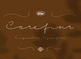 Carefour Signature Font