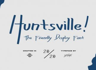 Huntsville! - Friendly Display Font