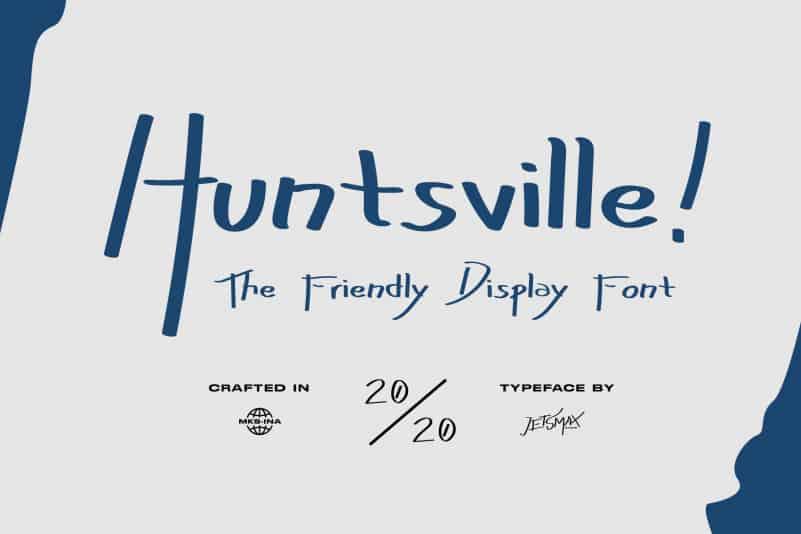 Huntsville! - Friendly Display Font