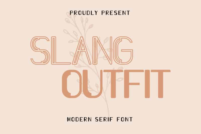 Slang Outfit Sans Serif Font