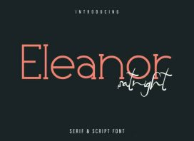 Eleanor Satnight Font Duo