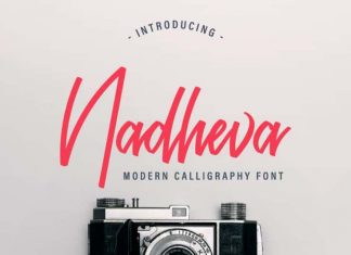 Nadheva Calligraphy Font