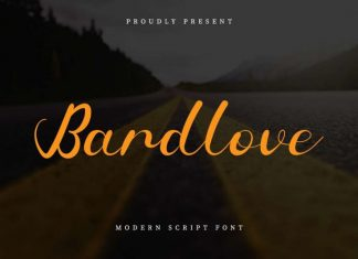 Bardlove Calligraphy Font