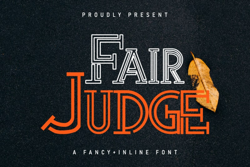 Fair Judge Display Font