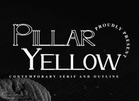 Pillar Yellow Display Font