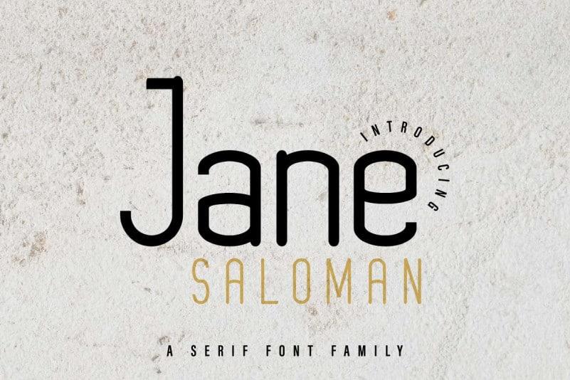Jane Saloman Sans Serif Font