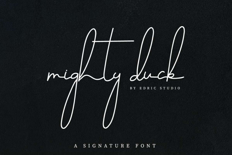 Mighty Duck Signature Font
