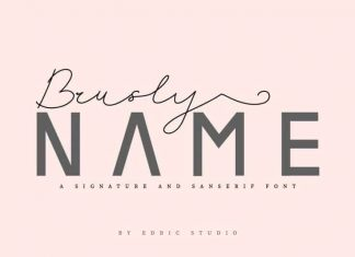 Brusly Name Font Duo