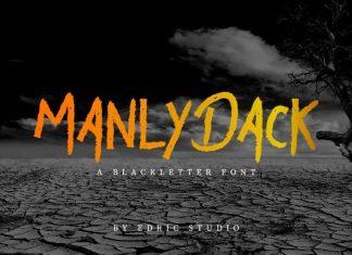 Manly Dack Grunge Script Font