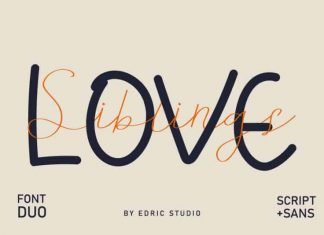 Siblings Love Script Font Duo