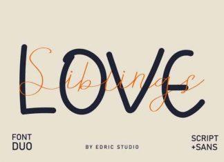 Siblings Love Script Font Duo
