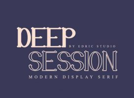 Deep Session Display Serif Font