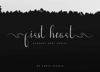 First Heart Calligraphy Font