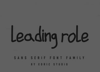 Leading Role Sans Serif Font