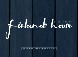 Firlands House Elegant Signature Font