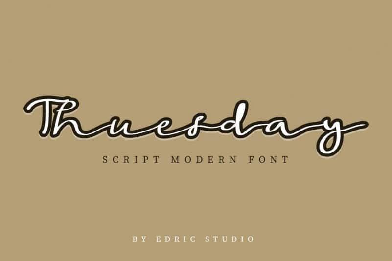 Thuesday Script Modern Font