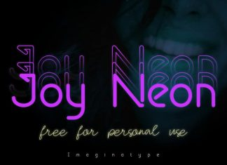 Joy Neon Display Font