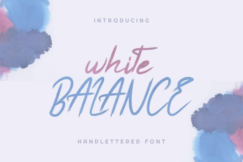 White Balance Handlettered Font