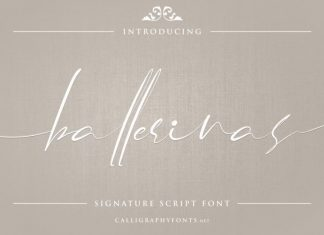 Ballerinas Calligraphy Font