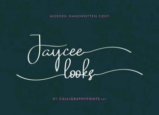 Jaycee Looks Script Font