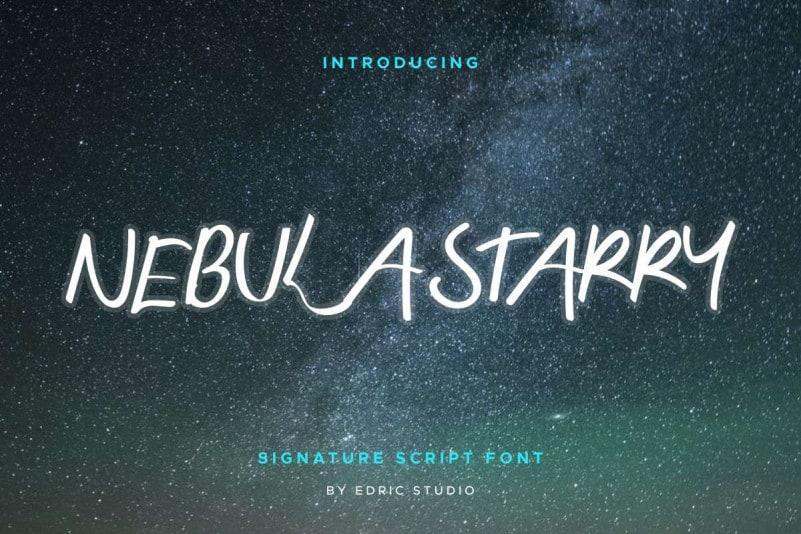 Nebula Starry Script Font