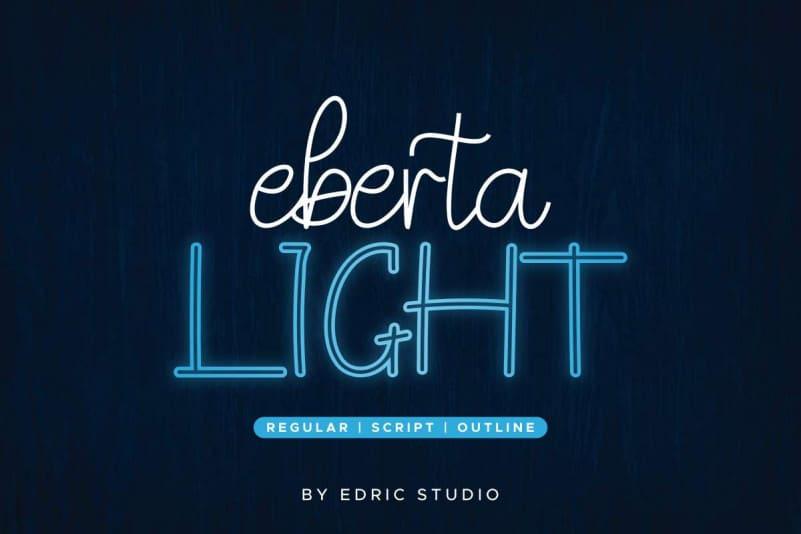 Eberta Light Font Trio