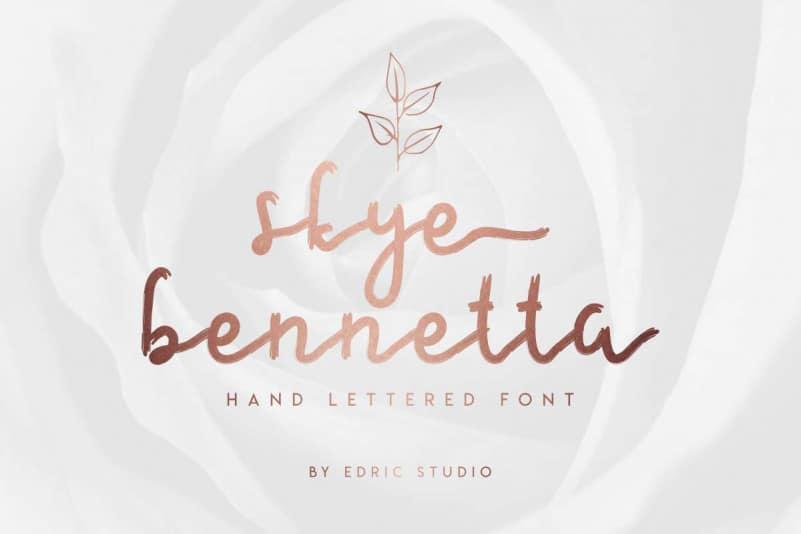 Skye Bennetta Handwritten Font