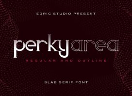 Perky Area Slab Serif Font