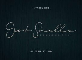 Good Smells Signature Font
