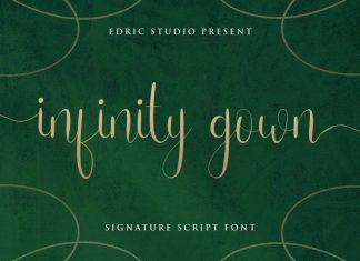 Infinity Gown Calligraphy Font