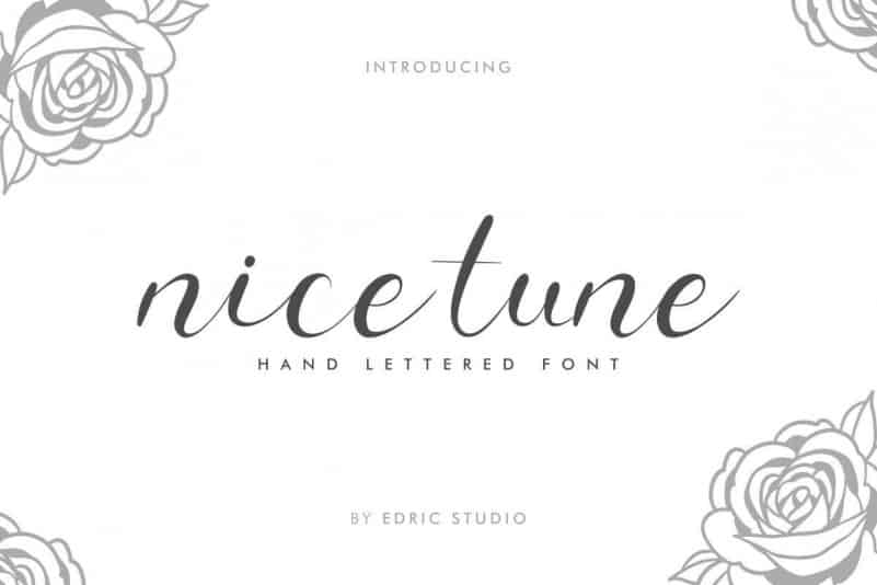 Nice Tune Calligraphy Font