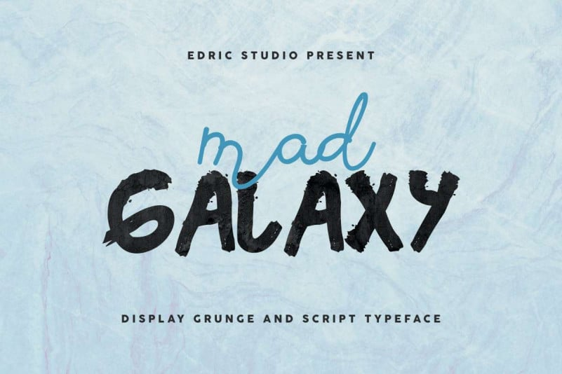 Mad Galaxy Script Font Duo